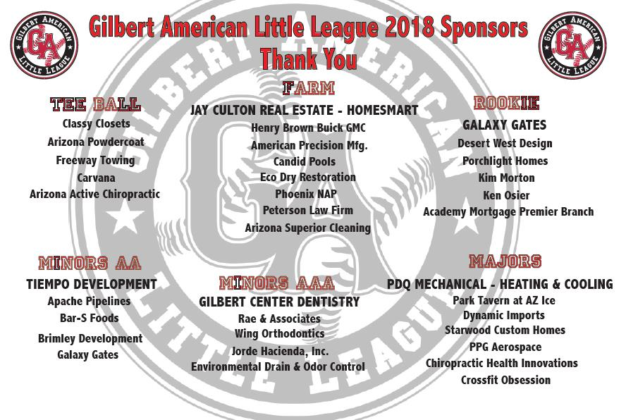 Gilbert American Little League - Powered by SportsSignUp Play